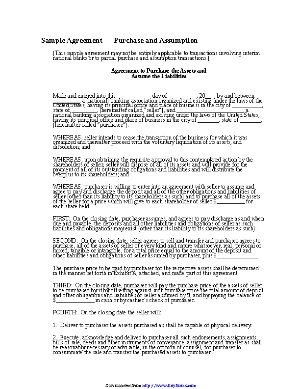 Purchase Agreement Template 3