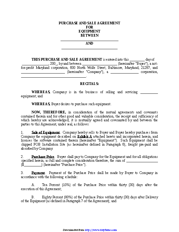 Purchase And Sale Agreement 2