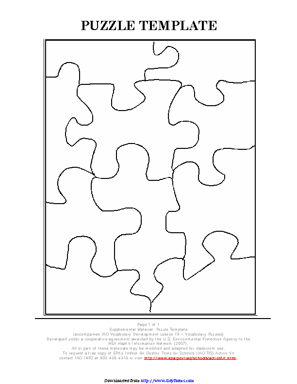 Puzzle Template 1