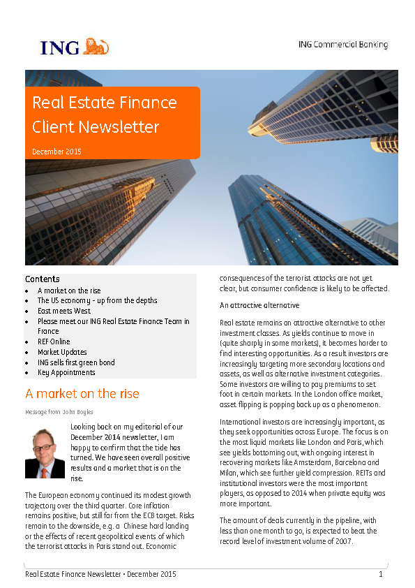 Real Estate Finance Client Newsletter
