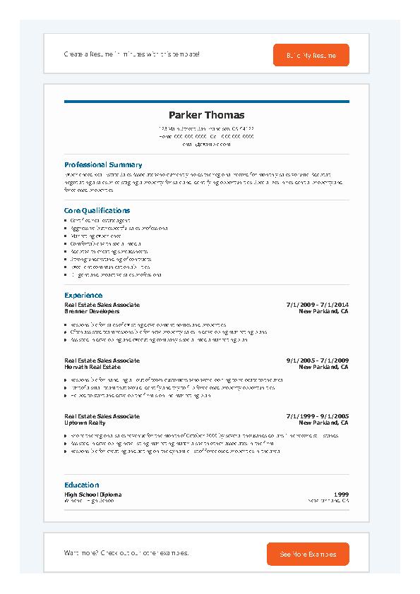 Real Estate Sales Associate Resume Pdfsimpli