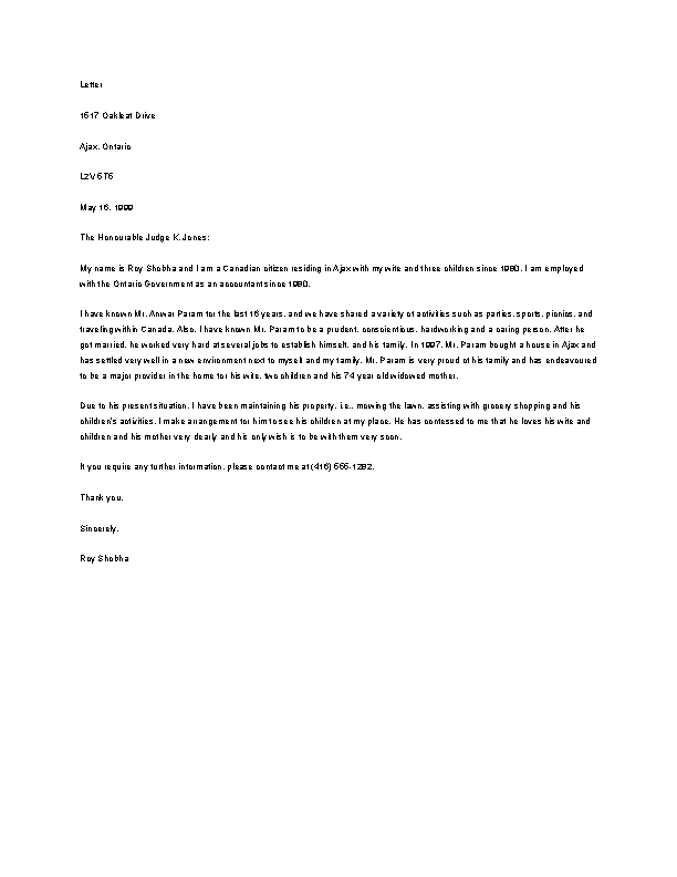 Recommendation Letter For A Friend In Jail Download