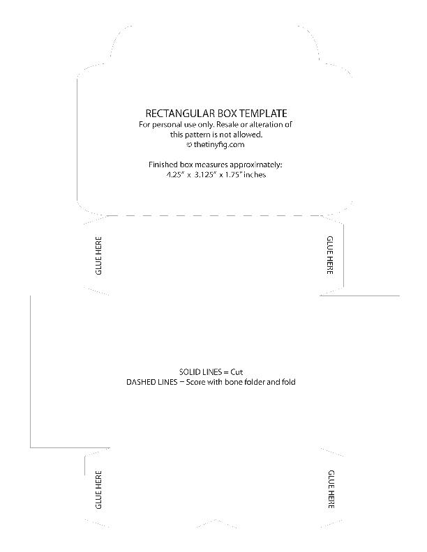 Rectangular Box Template