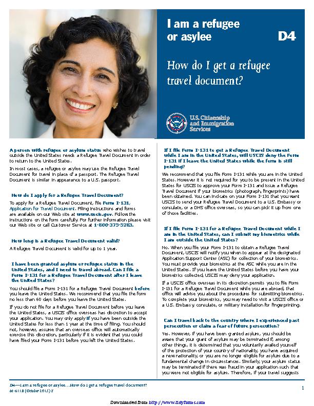 Refugee Travel Document 1