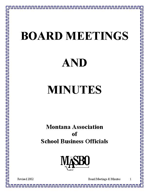 Regular Board Minutes