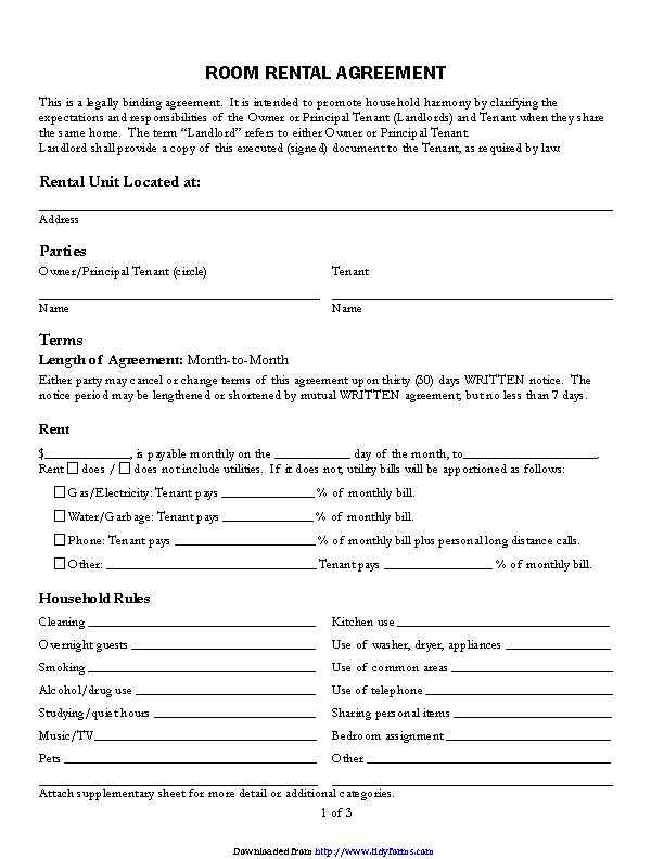 Rental Contract Template 3