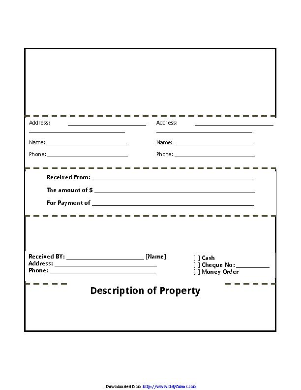 Rental Receipt Template 2