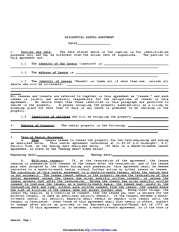 Residential Lease Agreement 2