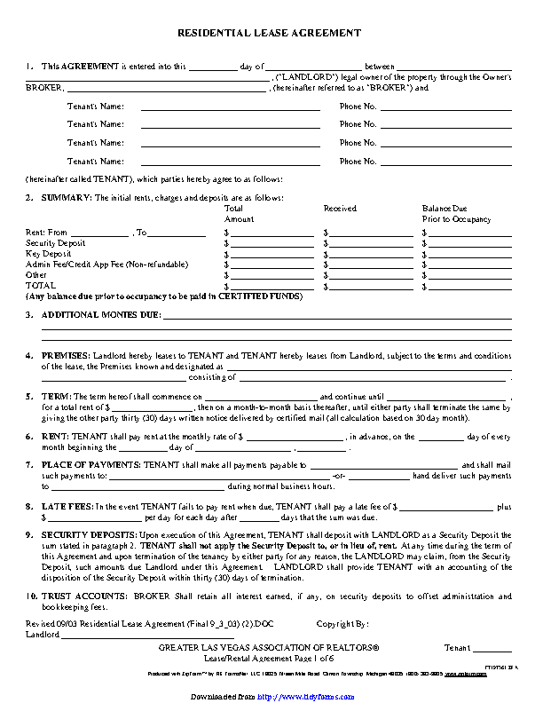 Residential Lease Agreement 3