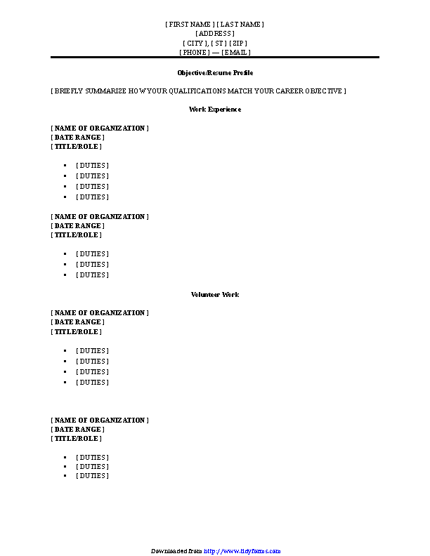 Resume Archives Page 48 Of 155 Pdfsimpli
