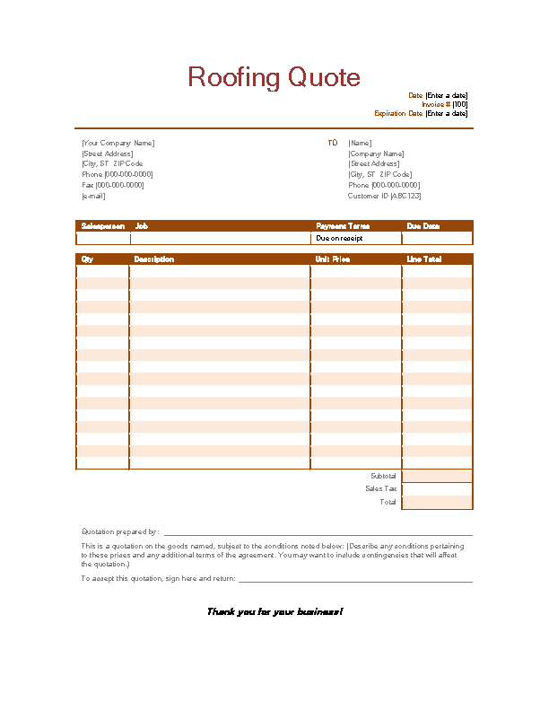 Roofing Invoice Template Free from devlegalsimpli.blob.core.windows.net