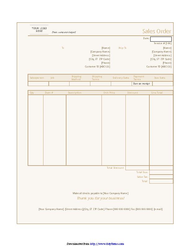Sales Order Template 2