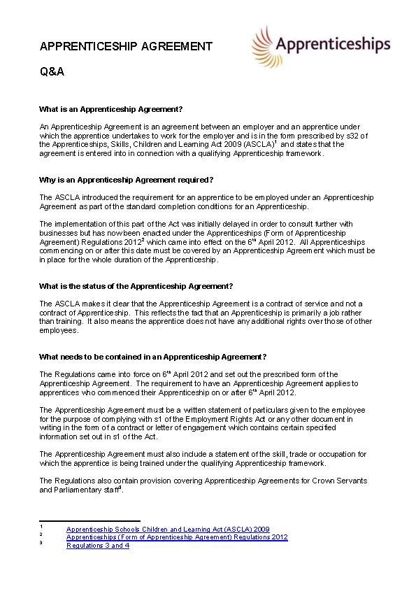 Sample Apprentice Agreement Template Pdfsimpli