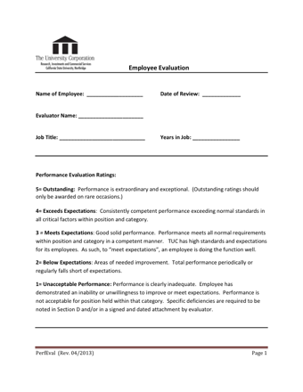 Complete Your Sample Employee Evaluation Forms Online Now Don