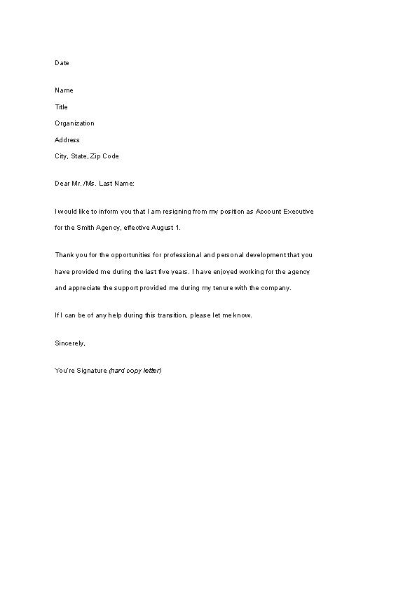 Letter Of Resignation Template Pdf from devlegalsimpli.blob.core.windows.net