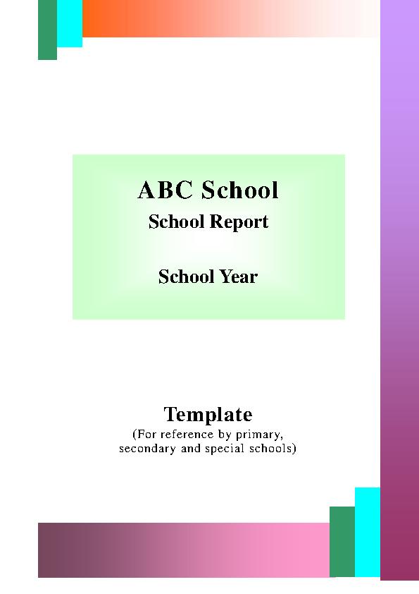 Sample School Report Template