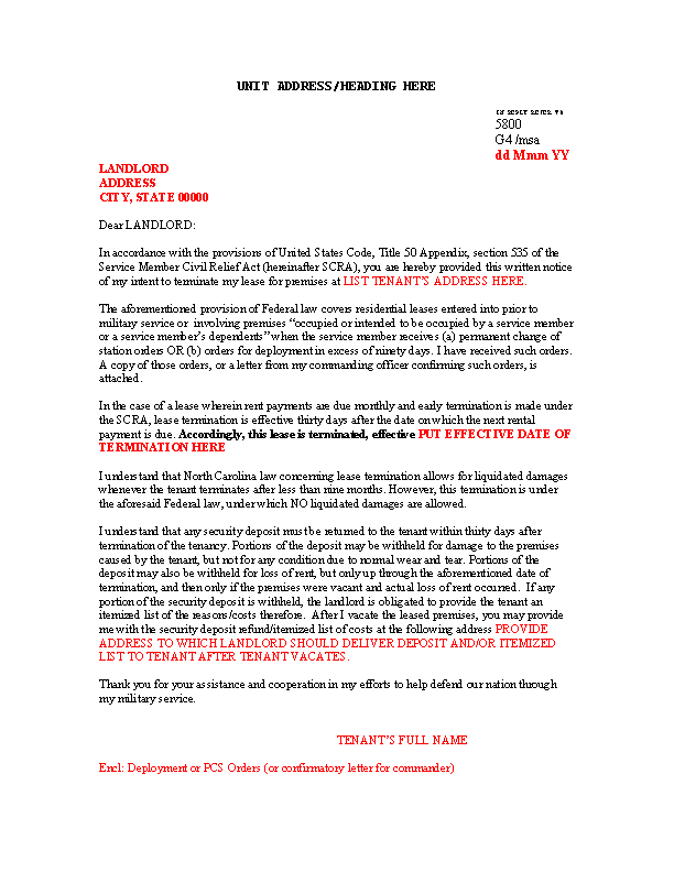 Sample Scra Lease Termination Letter Template Word Doc ... on government letter template, therapeutic letter template, investment letter template, corporate letter template, certified letter template, medical letter template, short sale letter template, contractor letter template, move in letter template, service letter template, urban letter template, contract letter template, professional letter template, office letter template, bid request letter template, workplace letter template, plumbing repair letter template, rental letter template, relocation letter template, day care letter template,