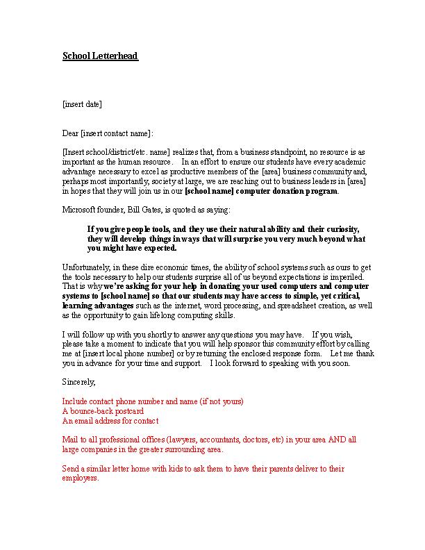 Sample Sponsorship Request Letter Pdfsimpli