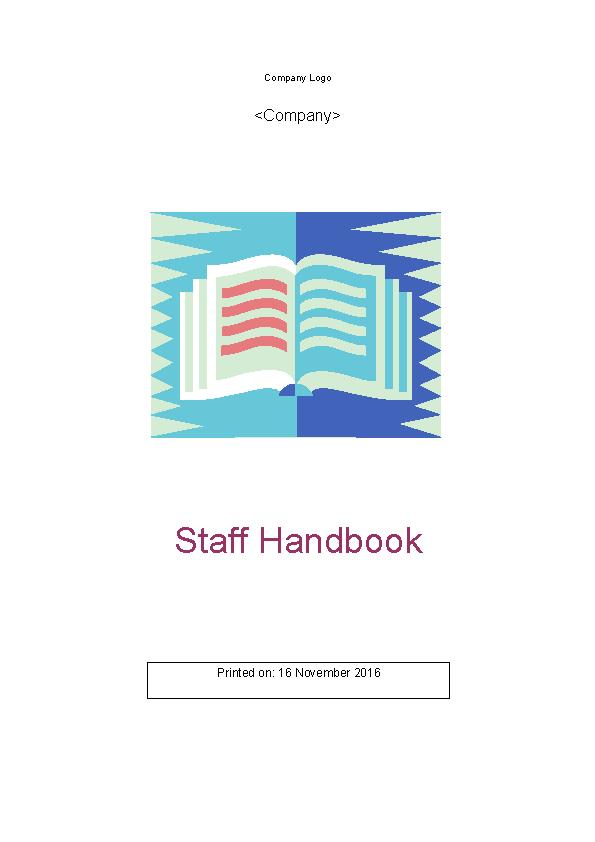 Sample Staff Handbook Template