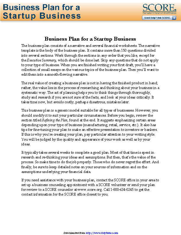 Business Plan Archives Page 5 Of 16 Pdfsimpli