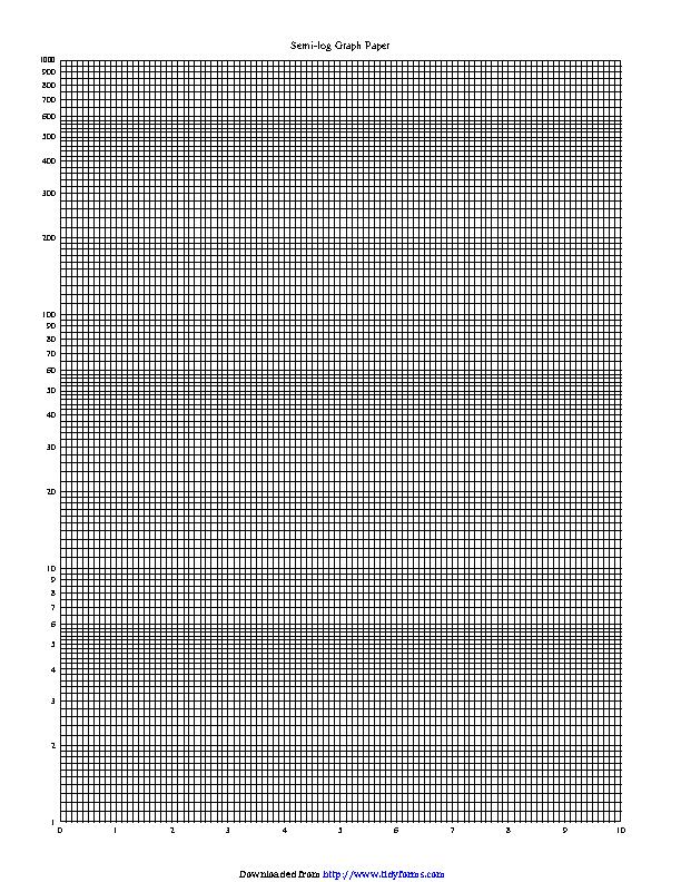 Semi Log Graph Paper 1