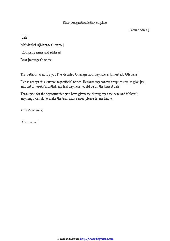 Resign Letter Format Pdf from devlegalsimpli.blob.core.windows.net