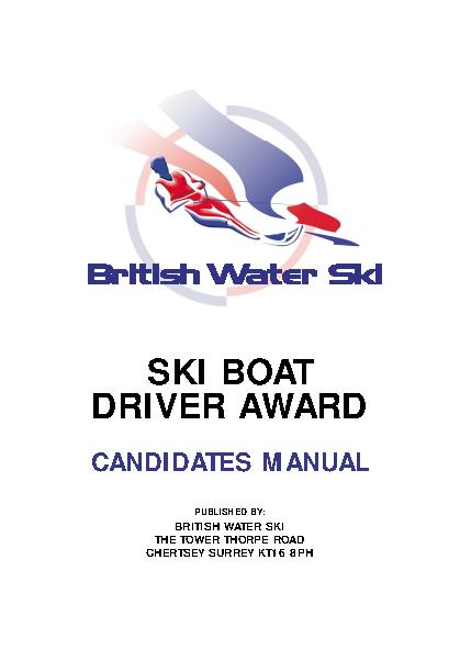Ski Boat Driver Award