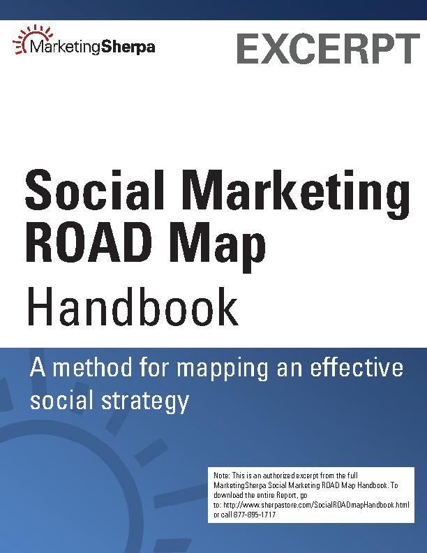 Social Marketing Road Map Handbook