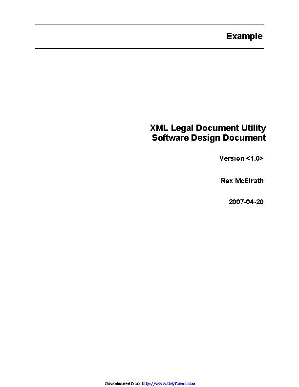 Software Design Document 1