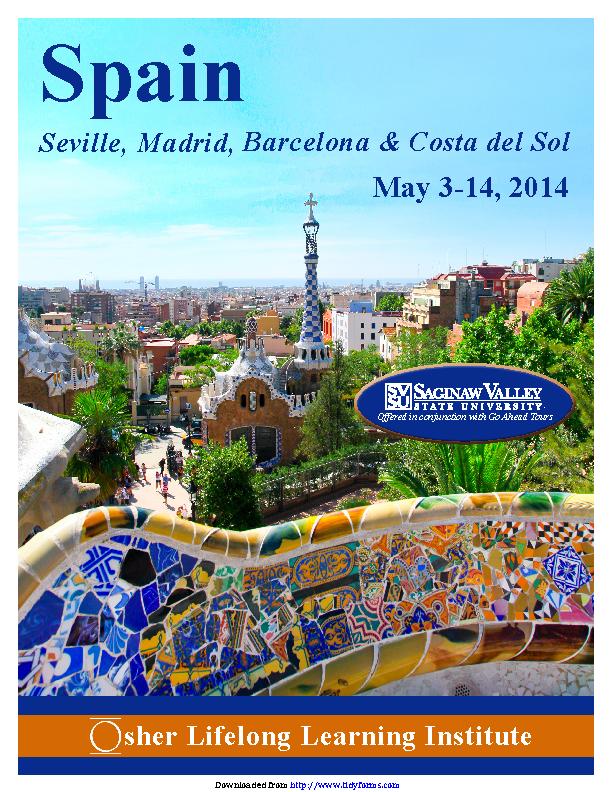 Spain Brochure 2014