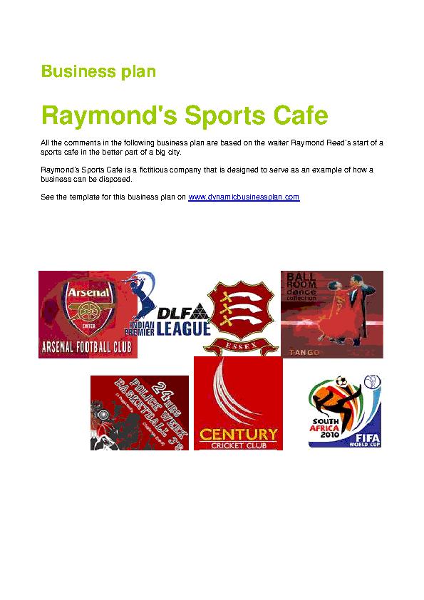 Sports Bar Business Plan Template