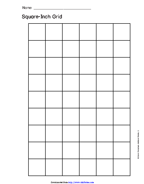 Square Inch Grid