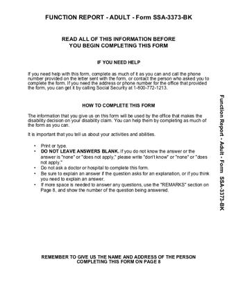 SSA 3373 PDF