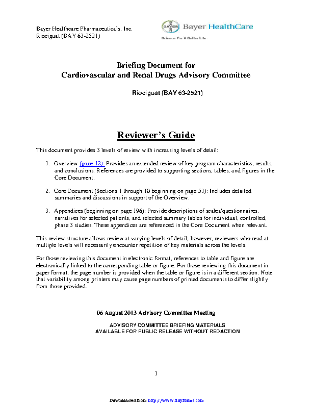 Standard Investigators Brochure Format