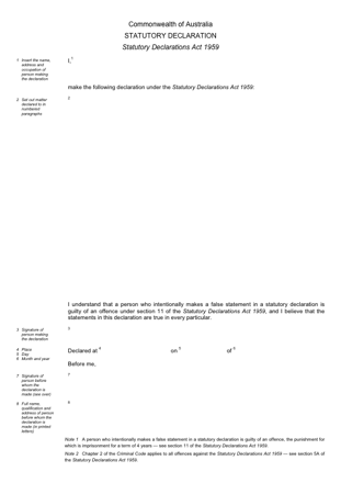 Statutory Declarations PDF