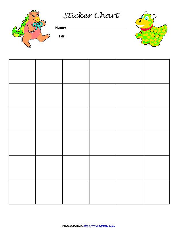 Sticker Charts 1