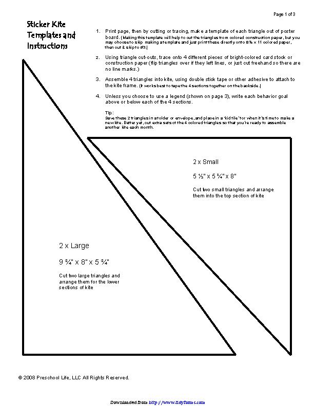 Stiker Kite Template