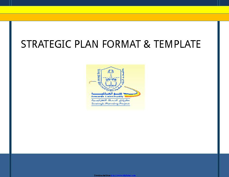 Strategic Plan Template 2