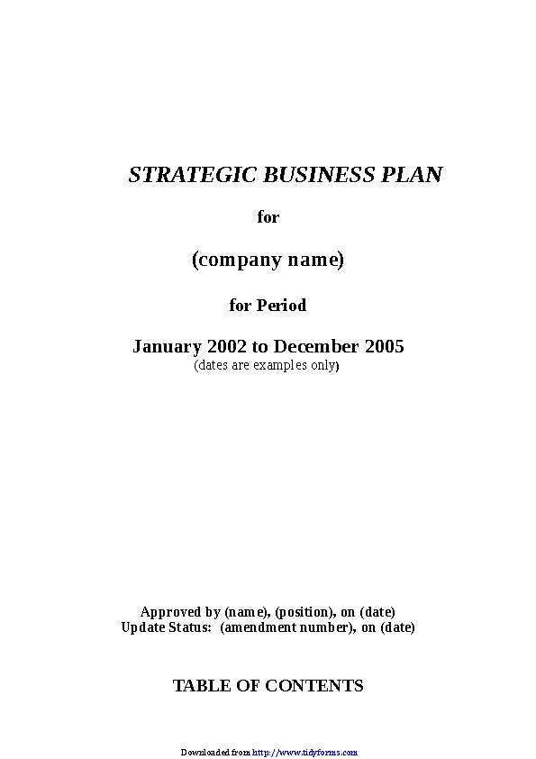 Strategic Plan Template 3