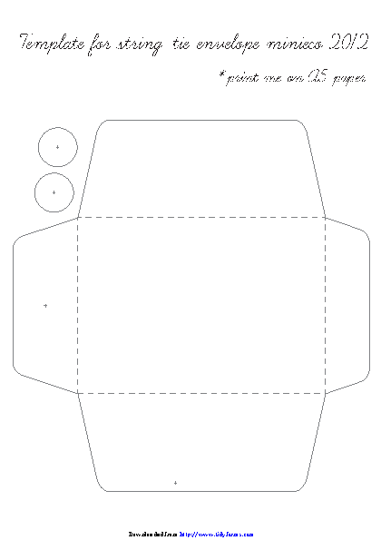 String Tie Envelope Template