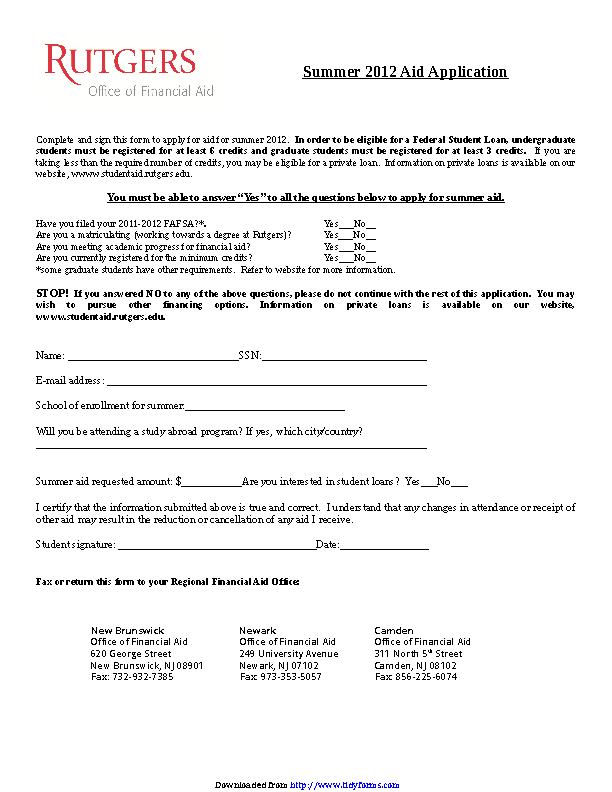Students Loan Application Form 2