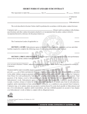 Subcontracts PDF