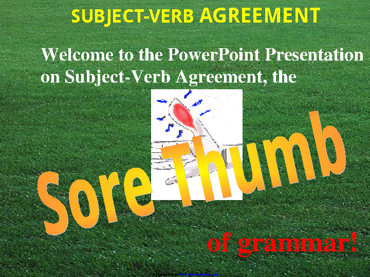 Subject Verb Agreement Ppt 1