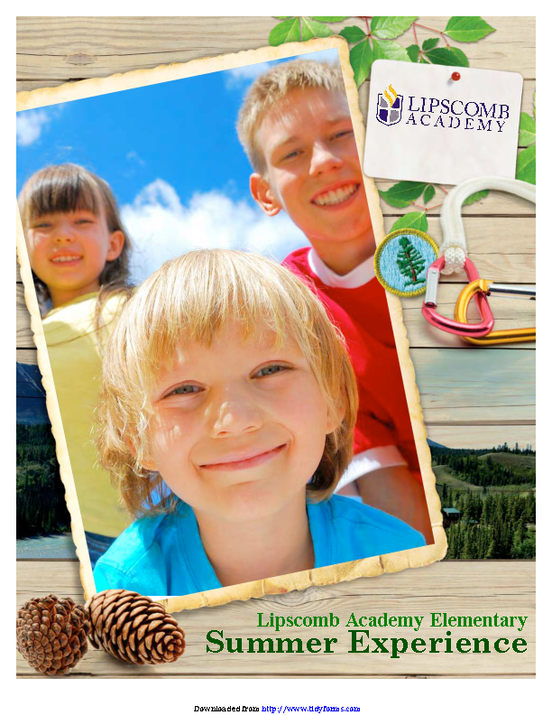 Summer Camp Front Brochure