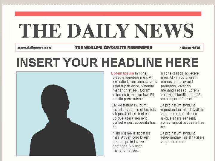 Sunshine Editable News Paper Template Free Ppt Format - PDFSimpli