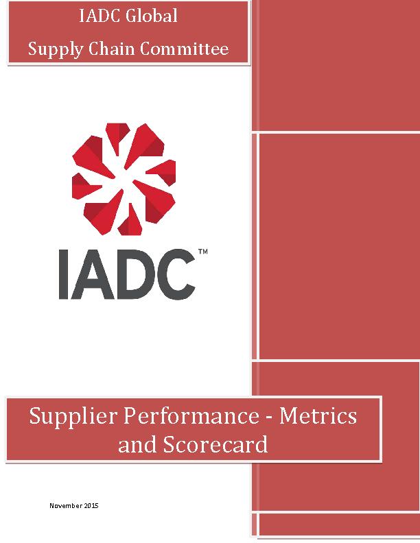 Supplier Performance Metrics And Scorecard