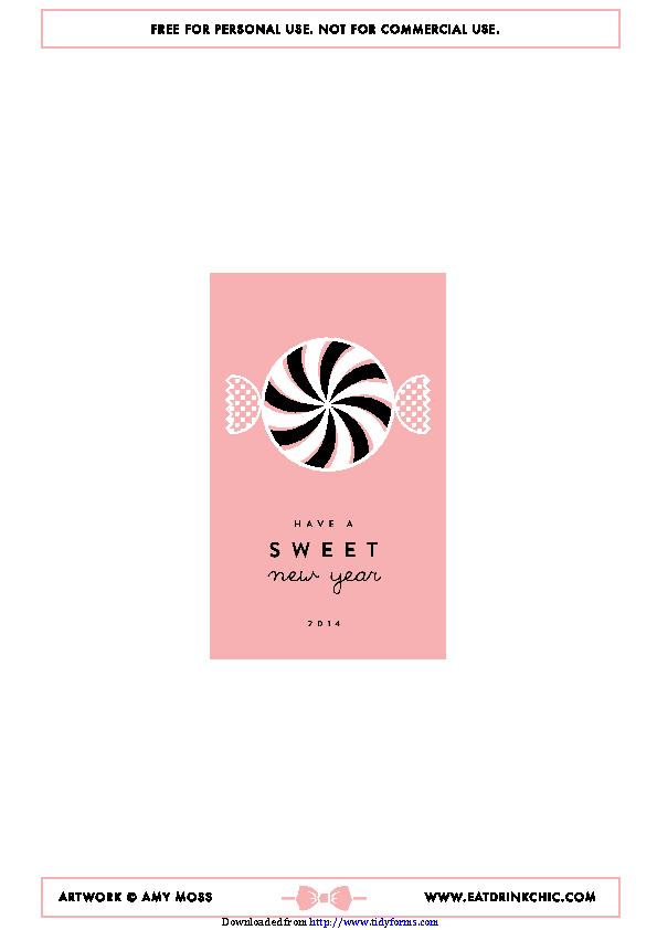 Sweet New Year Calendar 2014