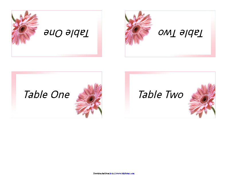 Table Tent Template 2