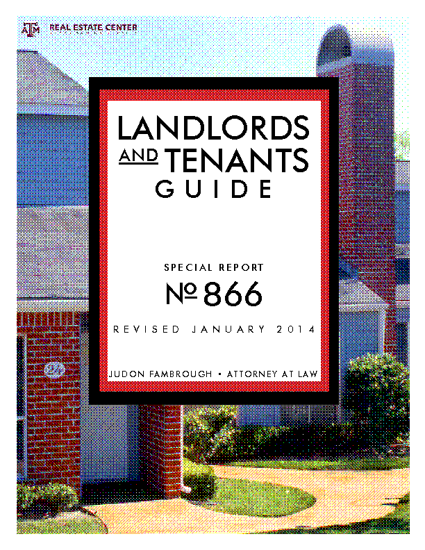 Texas Landlord And Tenants Guide