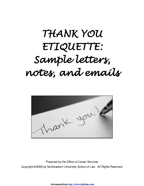 Thank You Etiquette